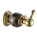 Contemporary Gold Wall Mouted Single Copper & Marble Robe Hook