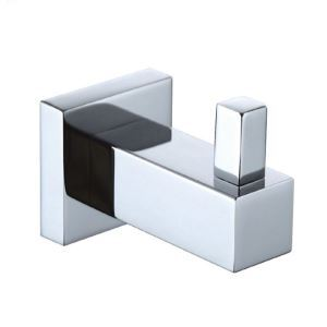 New Modern Chrome-colored Wall Mounted Single Brass Robe Hook