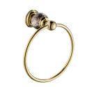 Contemporary Wall Mounted Golden Copper & Marble Towel Ring