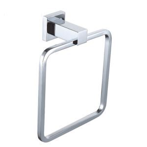 New Modern Wall Mounted Chrome-colored Brass Towel Ring
