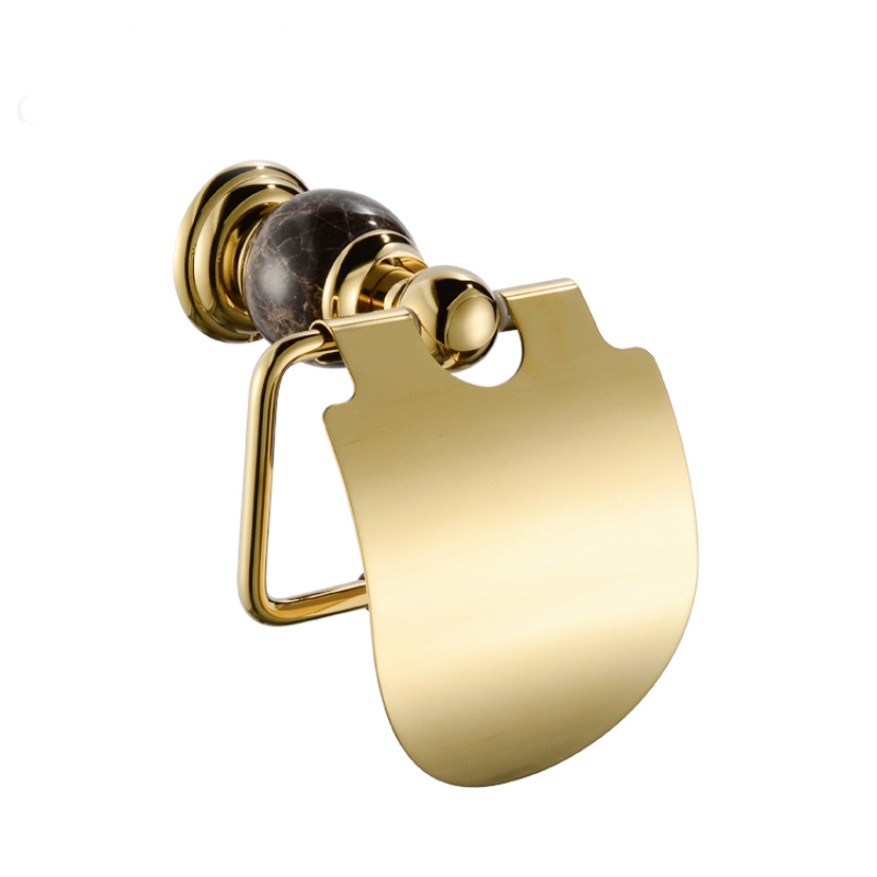 Contemporary Wall Mounted Toilet Paper Holder Golden