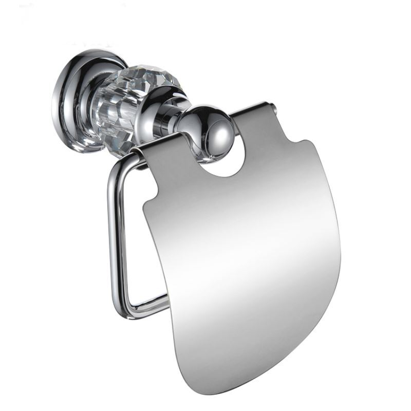 New Modern Wall Mounted Chrome Colored Toilet Paper Holder
