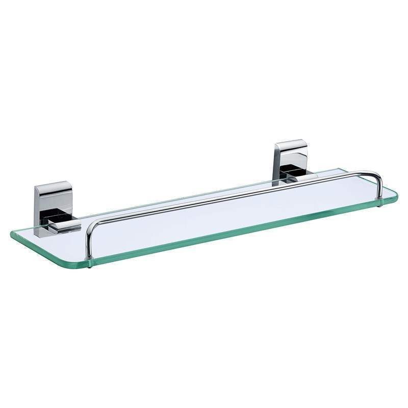 New Modern Chrome Colored Bath Shelf Bathroom Accessories