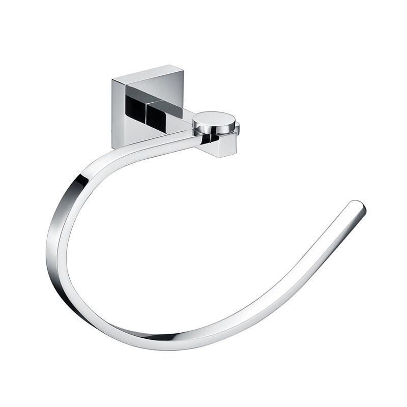 Chrome Towel Ring Modern New Bathroom Accessories Solid