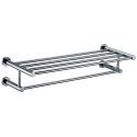 Polished Chrome Solid Brass 25 Inch Bathroom Shelf With Towel Bar