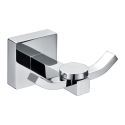 Contemporary Chrome Finish Solid Brass Wall Mount Silver Robe Hooks