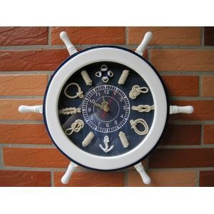 Nautical Style Rudder Design Wall Clock