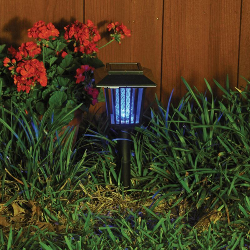 Fly Repellent Outdoor Light Black Garden Solar Lighting