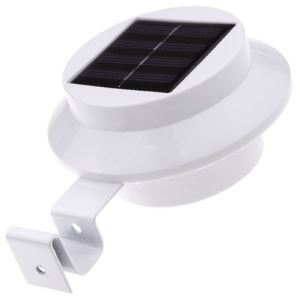 Solar LED Light Gutter Fence Mounting Outdoor Night Security Lighting Garden Yard Wall Lamp Waterproof