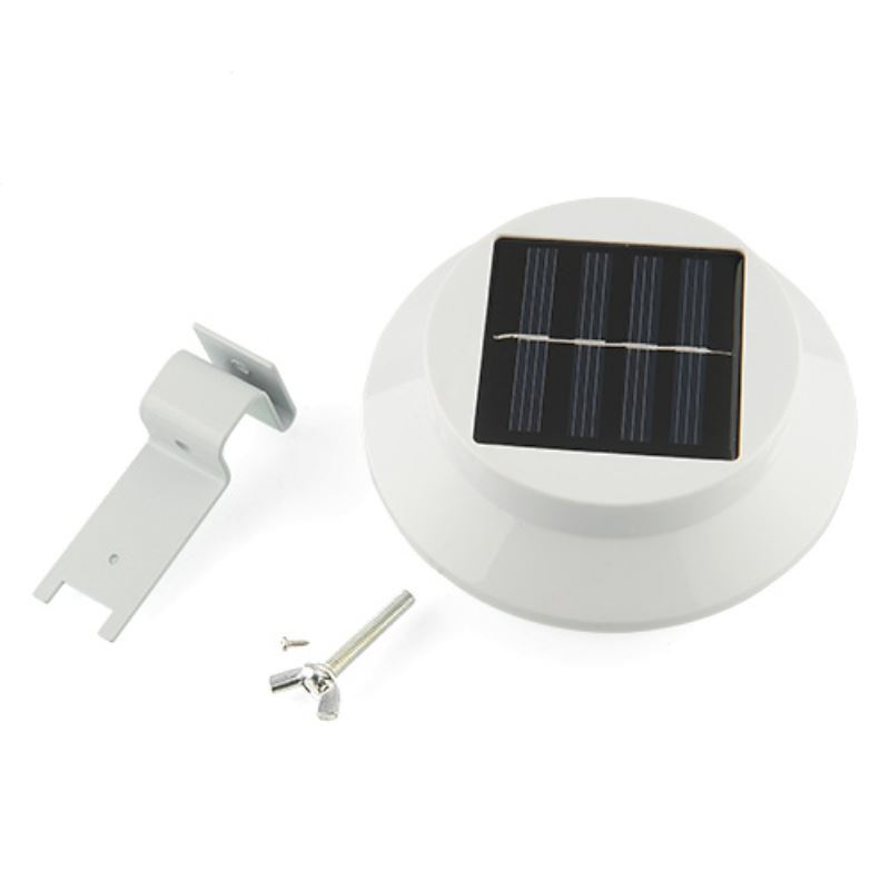 Solar Led Light Gutter Fence Mounting Outdoor Night