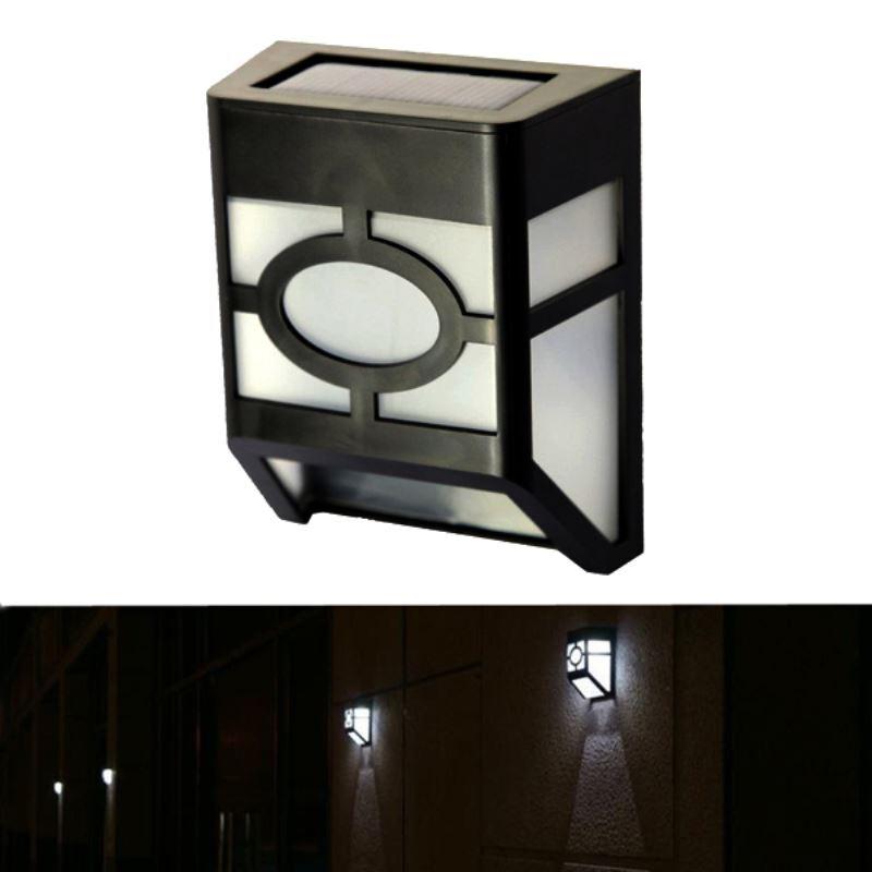 Warm White White Solar Powered Wall Mount 2 Led Lantern