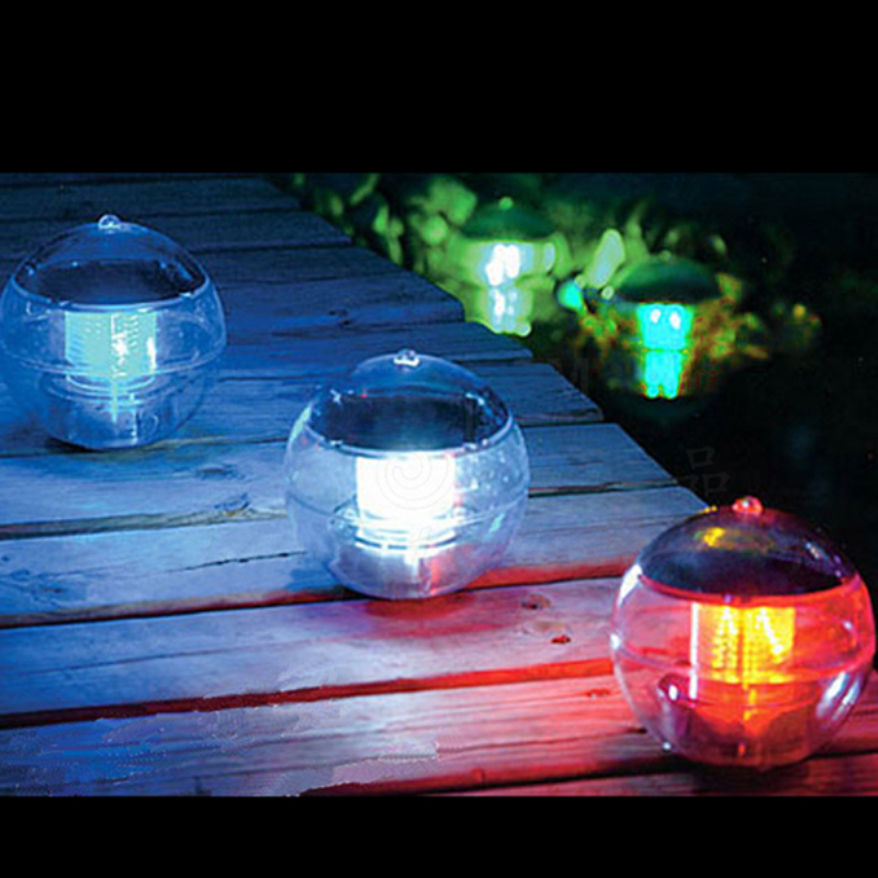 Solar Power Changing Color Led Floating Light Ball Lake