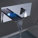 Wall Mount Bathroom Sink Faucet Bathroom Waterfall Basin Tap