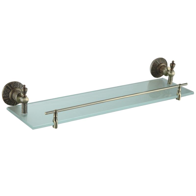 Antique Bronze Single Layer Bath Shelf Brass Wall Mounted