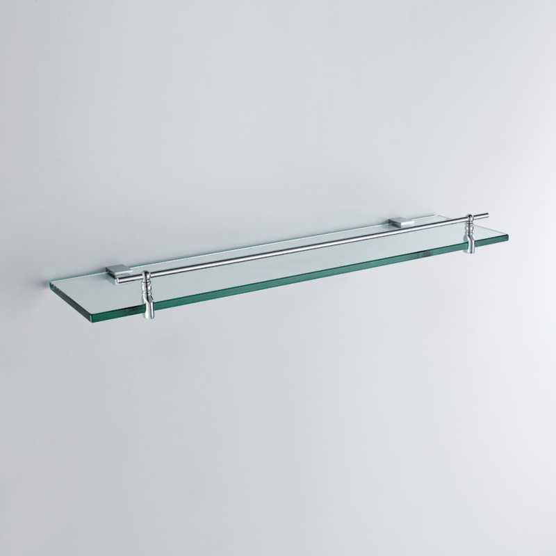 Fantastic Glass Bathroom Shelf Modern Chrome Finish Silver Single Download Free Architecture Designs Scobabritishbridgeorg