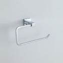 Modern Contemporary Silver Chrome Finish Wall Mounted Brass Towel Ring