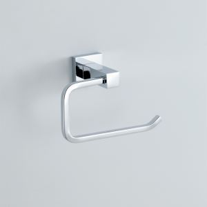 Modern Contemporary Silver Chrome Finish Toilet Paper Rack Wall Mounted Tissue Holder Brass Toilet Paper Holder