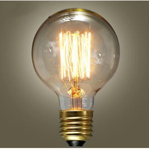 (In Stock) 40W E27 Retro/Vintage Edison Light Bulb G95 Halogen Bulbs