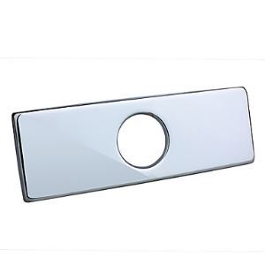 4' Polished Chrome Sink Hole rectangular Cover Deck Plate(0572 - 370)