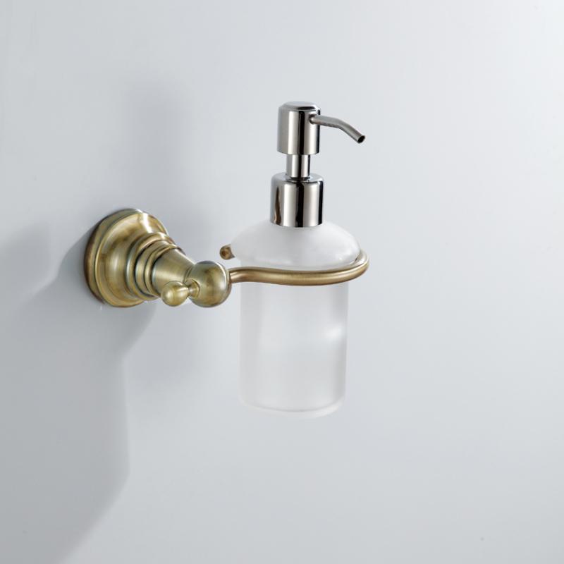 Antique Bronze Liquid Soap Dispenser Rack Wall Mounted