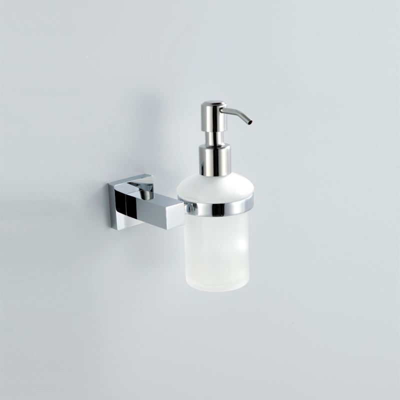 Modern Contemporary Chrome Finish Liquid Soap Dispenser
