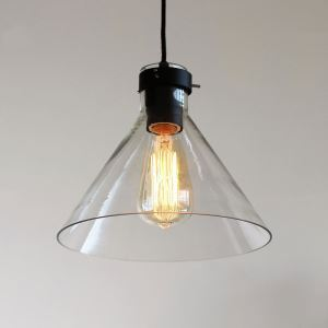 Country Pendant Light Iron & Glass ceiling lights  ( Chain Adjustable )