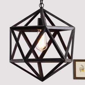 40W  Country Light Black Pendant Light Iron ceiling lights (Chain Adjustable) Black Chandelier