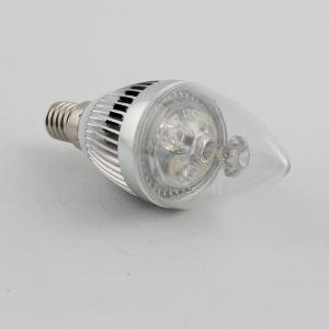 3W E14 LED Candle Bulb 270 LM AC85-265V Silver