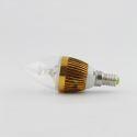 3W E14 LED Candle Bulb 270 LM AC85-265V Golden