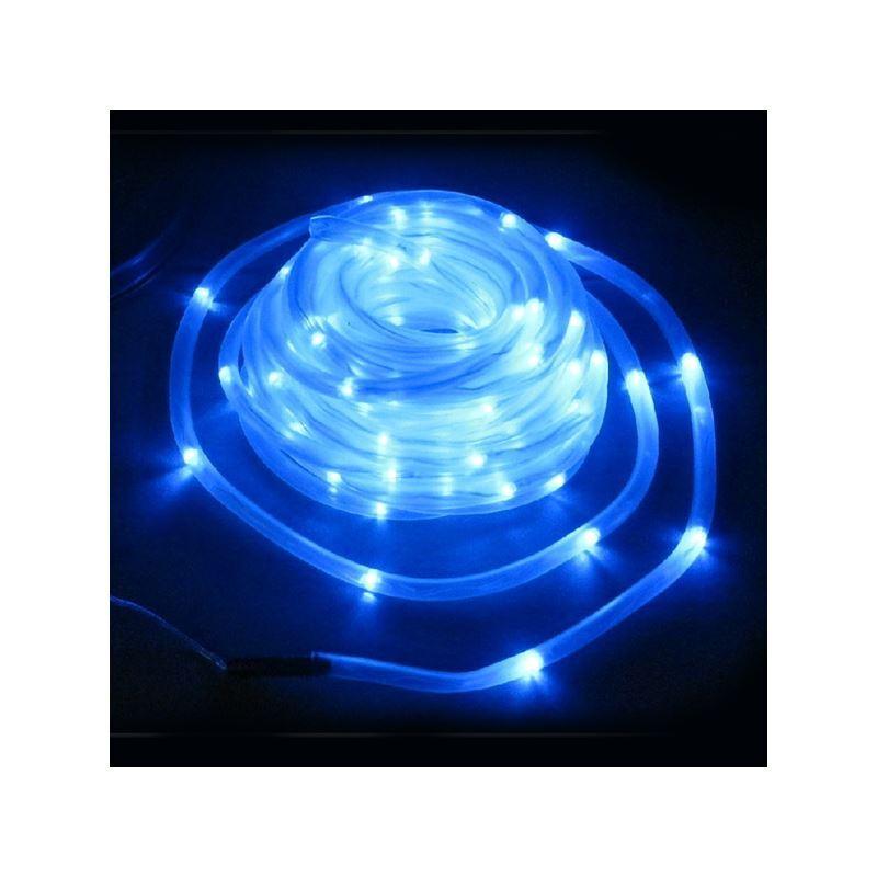 Led Rope Light For Swimming Pool: 100 LED Blue Solar Outdoor Landscape Lighting Decorative