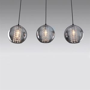 Modern Transparent Contemporary Glass Pendant Lights  Bell Shaded with 3 Lights   Dining Room Lighting Ideas Living Room Bedroom Ceiling Lights