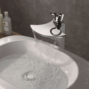 Chrome Waterfall Basin Tap Sanitary Ware Mixer