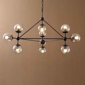 Simple Modern Artistic  Pendant Lights 10 lights  galss shade