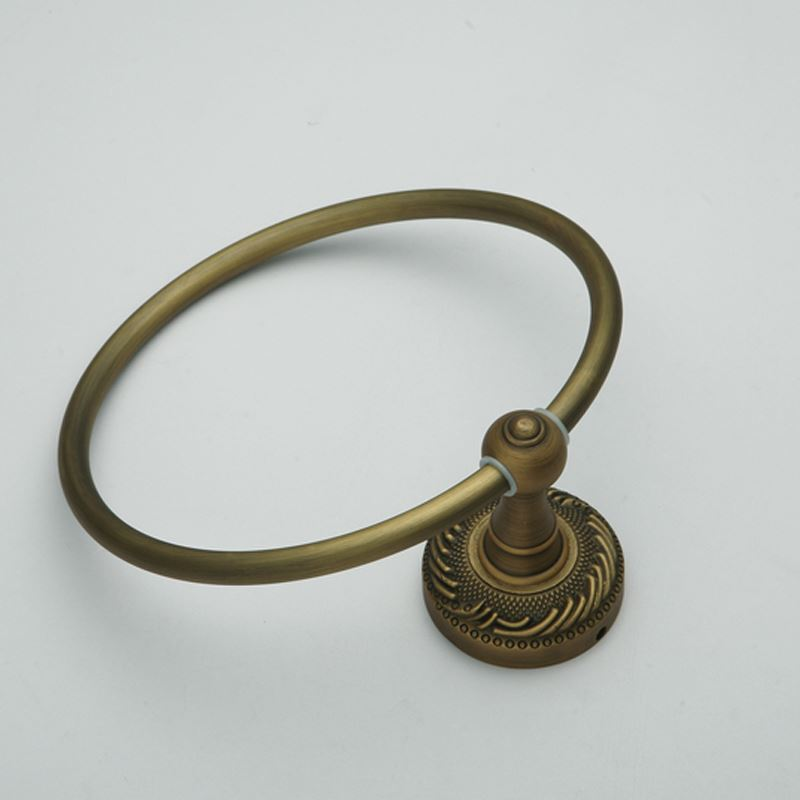 Antique Vintage Wall Mounted Brass Towel Ring