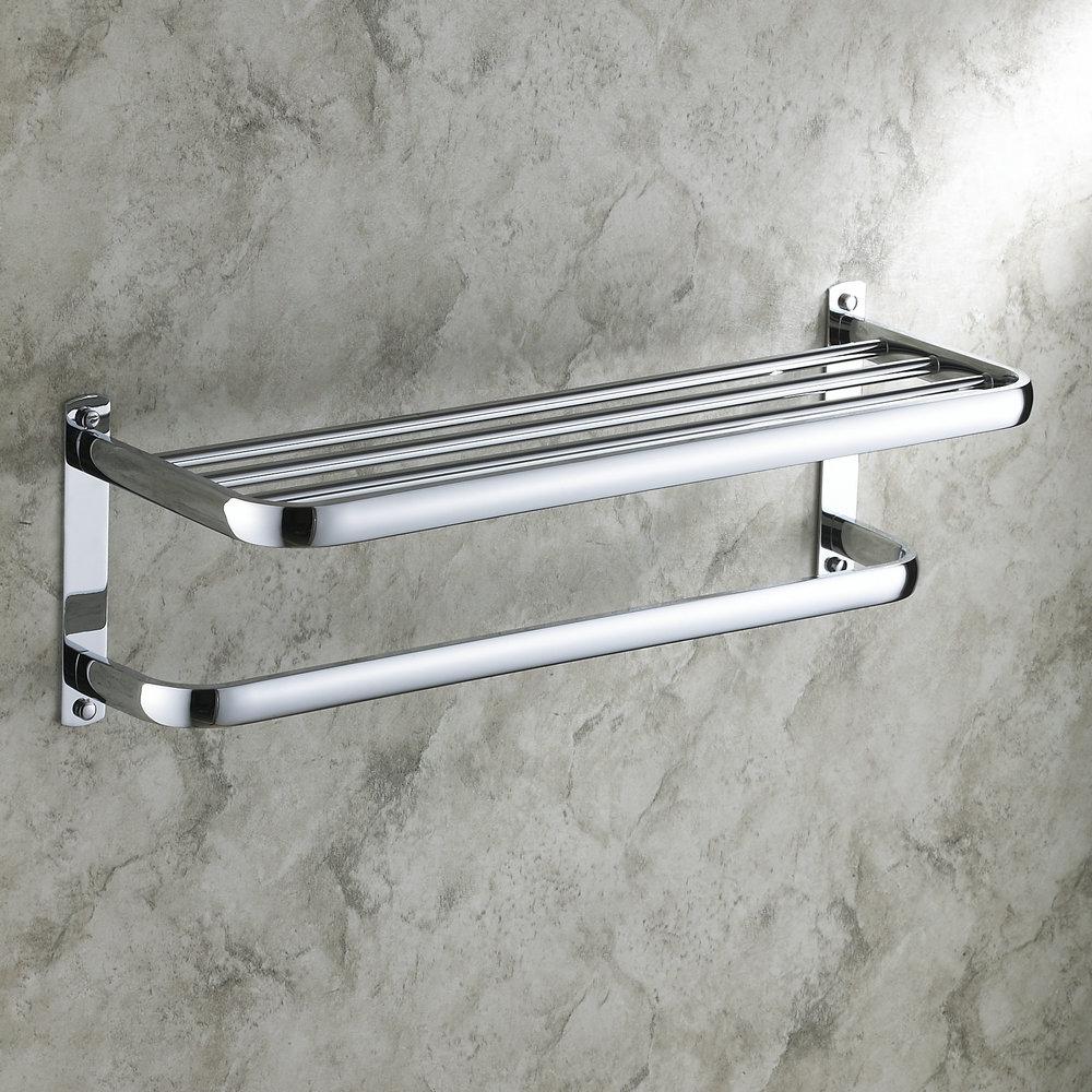 Bathroom Shelf With Towel Bar Modern