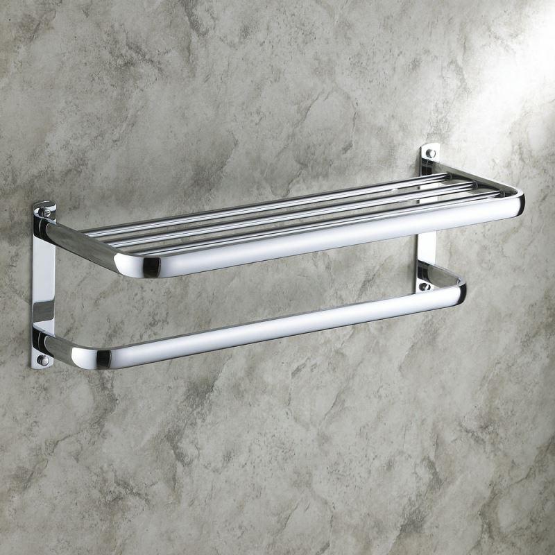 Bathroom Shelf With Towel Bar Modern Towel Rack
