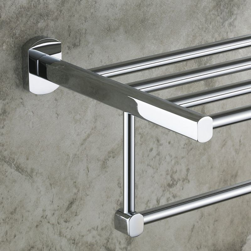 Modern Contemporary Wall Mounted Chrome Finish Double