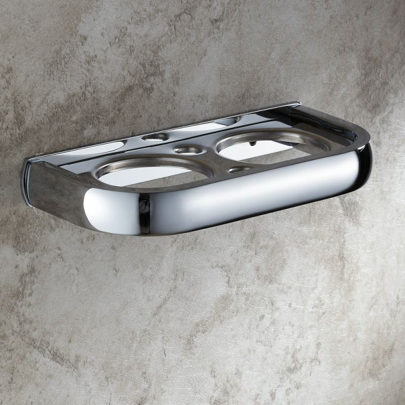 Modern Contemporary Chrome-colored Wall-mounted Brass