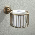 (In Stock) Antique Vintage European Brass Toilet Roll Holder