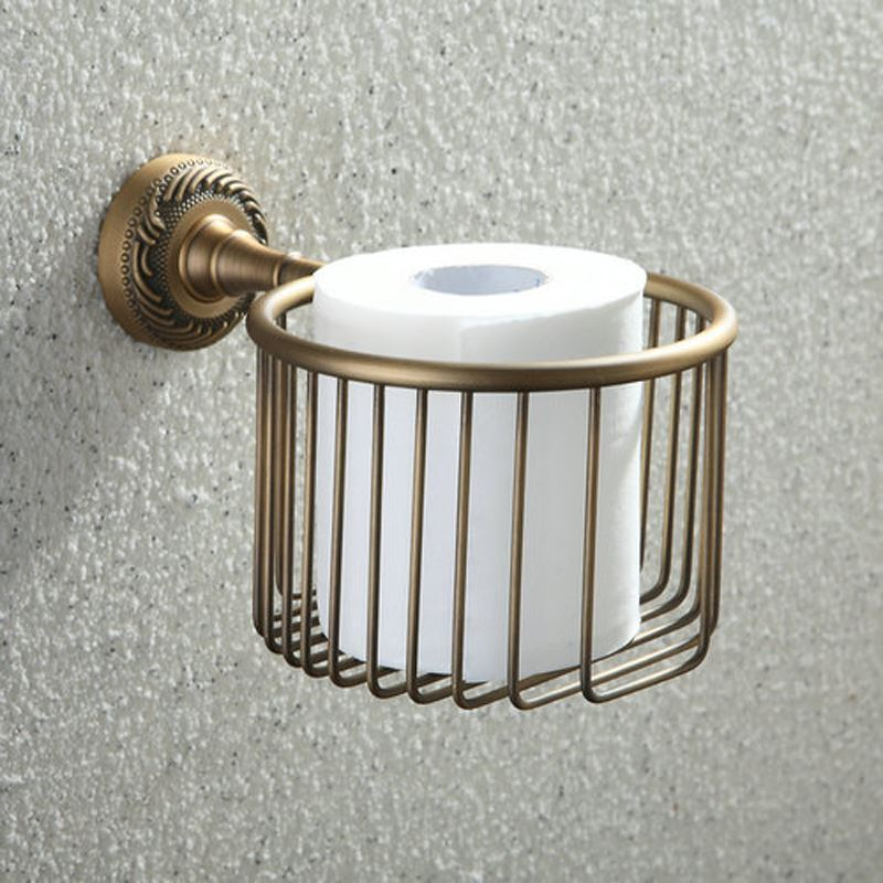In Stock Antique Vintage European Brass Toilet Roll Holder