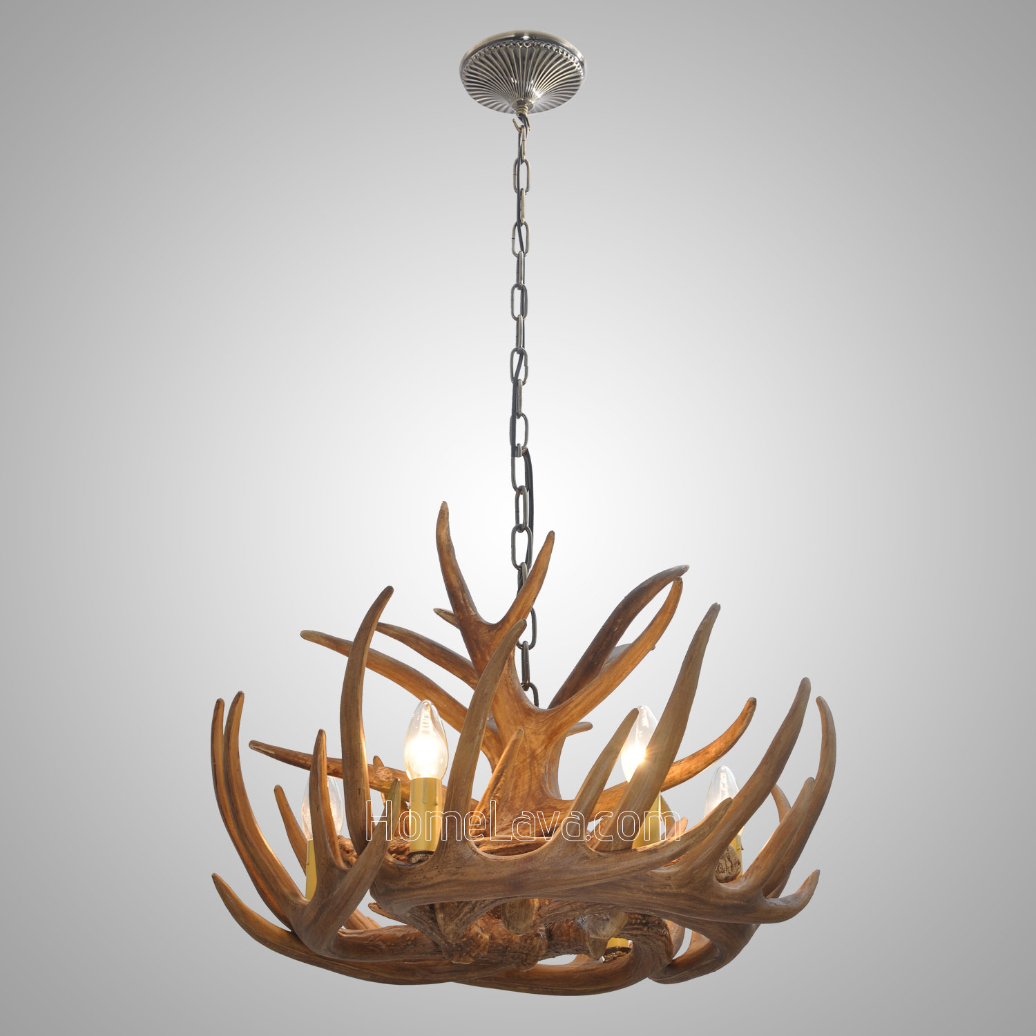 Antler 6 Light Chandelier Rustic Cascade Ceiling Light