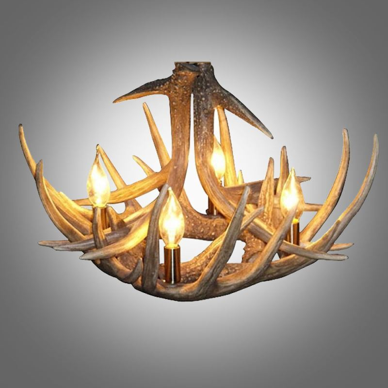 Small Antler Chandelier Rustic Cascade Featured Antler 4