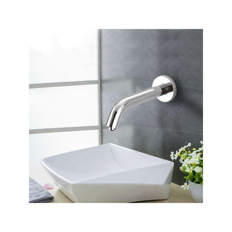 Sensor Contemporary Hands Free Bathroom Sink Faucet Chrome Finish Cold Img 1