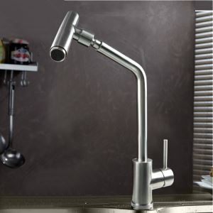 Retro Stainless Steel Kitchen Faucet