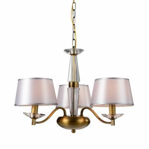 Fabric Bronze Chandelier with 3 lights