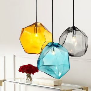 Modern Fashion Colorful Glass Pendant light with 3  lights Dining Room Lighting Ideas Living Room Bedroom Lighting