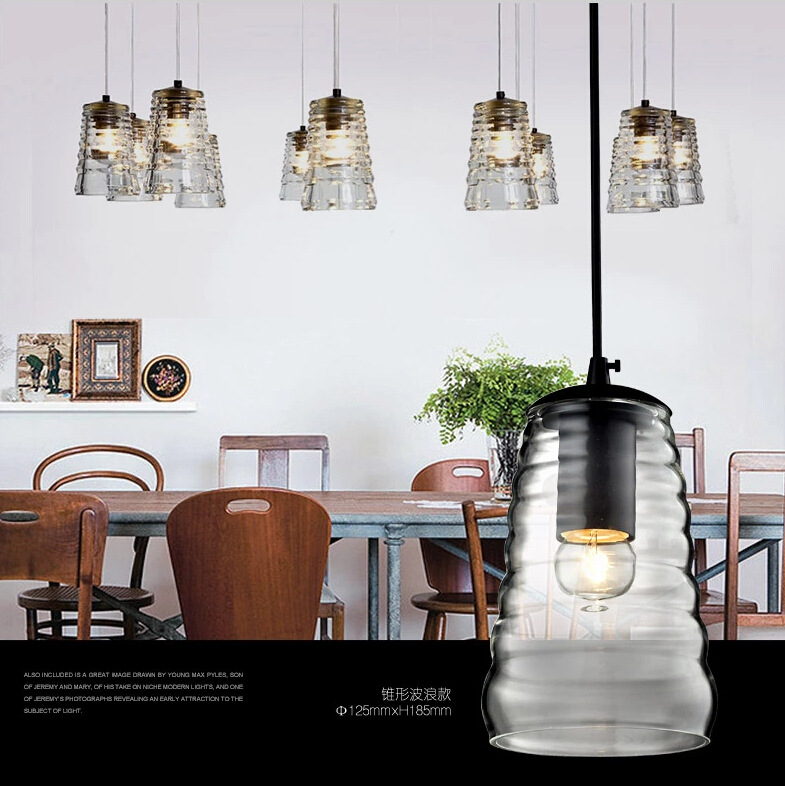 Retro American Country Style Mini Gl Pendant Light Dining Room Lighting Ideas Living Bedroom