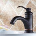 Oil Rubbed Bronze Bathroom Sink Faucet  Single Handle Centerset( 1039-MA1111 )