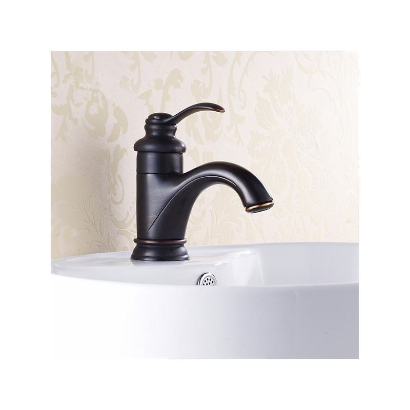 Oil Rubbed Bronze Bathroom Sink Faucet Single Handle
