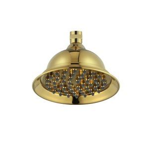 Contemporary 8 Inch Brass Ti-PVD Finish Rainfall Shower Head